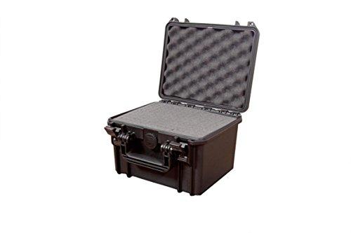 Max MAX235H155S Hartschalenkoffer für Fotografie-Ausrüstung, IP67, wasserdicht, strapazierfähig, Schaumstoff, Flight Case, Schwarz, Única