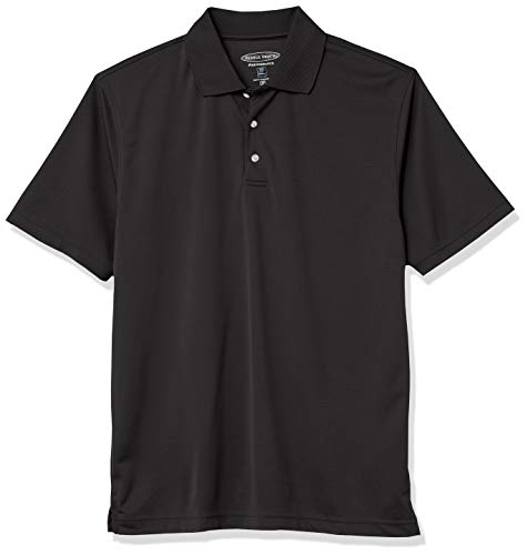 Men#039s Pebble Beach Golf Polo Shirt with Short Sleeve and Horizontal Textured Design Caviar XLarge