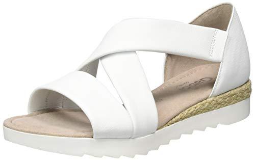 Gabor Shoes Damen Comfort Sport Riemchensandalen, Weiß (Weiss (Jute) 50), 41 EU