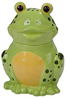 Pacific Giftware PT Frog Toad Glossy Ceramic Treat Cookie Storage Container Canister Jar