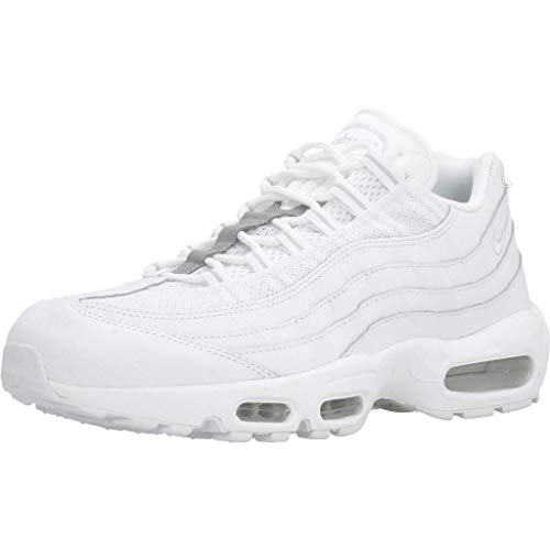 Nike Air Max 95 Essential, Scarpe da Running Unisex Adulto, Bianco (White/White/Pure Platinum/Reflect Silver/Black 100), 40.5 EU