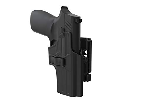 TEGE Sig P320 Compact 9mm/.40 Holster, 360° Adjustable Belt Holster Fit Sig Sauer P320 Compact/ P320 RX Compact/X Carry, Tactical Outside Waistband Open Carry Holster with Rapid Release, RH, Black