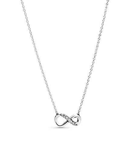 Pandora - Collana con ciondolo a forma di infinito con strass