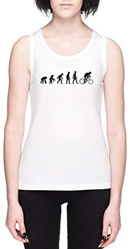 Evolución Bicicleta Sillín Blanca Mujer Camiseta De Tirantes Tamaño S White Women's...