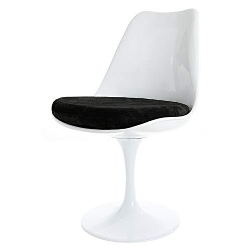 Silla Estilo Tulip Negro Blanco Y Lujoso Eero Saarinen