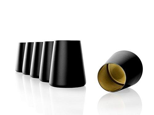 Stölzle Lausitz Becher Power, 380 ml, 6er Set in schwarz (matt) und Gold, universell einsetzbar, für Wasser, Säfte, Wein, spülmaschinenfest, mit organischen Farben besprüht