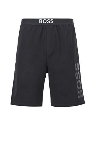 BOSS Herren Identity Shorts Pyjama-Shorts aus elastischem Baumwoll-Jersey mit Logo-Print