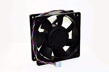 CAQL New Bitmain Heavy Duty Fan for Antminer T9 S1 S3 S5 S5+ S7 S9 A3 D3 L3 V9 X3 4  P/N  Delta QFR1212UHE DC12V 5.0A 120x120x38mm