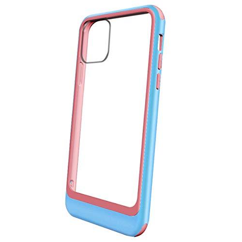 13peas beschermhoes compatibel met iPhone 11 Pro Max hoes, transparante backcover PC met TPU silicone voor iPhone 11 Pro Max telefoonhoes, 12, Sky blue poeder.