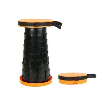 SPFOZ Decoración hogareña Asiento telescópico Plegable de Taburete retráctil para Acampar para Acampar, Senderismo, Pescar y Viajar (Color : 02)