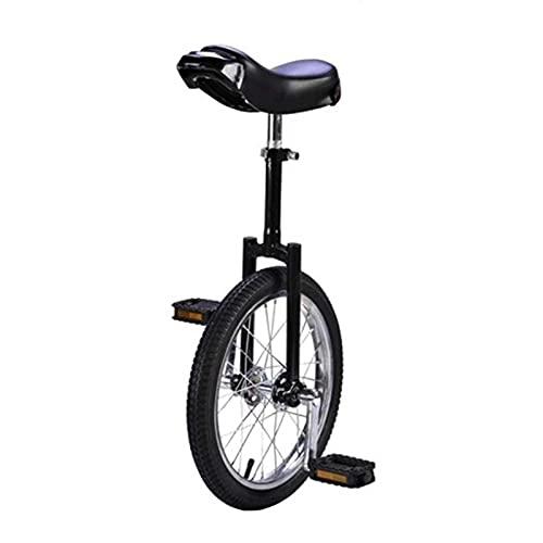 aedouqhr Monociclo de Rueda de 16/18/20 Pulgadas, Bicicleta de Pedal de Asiento Ajustable Negro para Adultos, niños Grandes, Deportes de montaña al Aire Libre, Fitness, Carga 150 kg, 18 Pulgadas (46