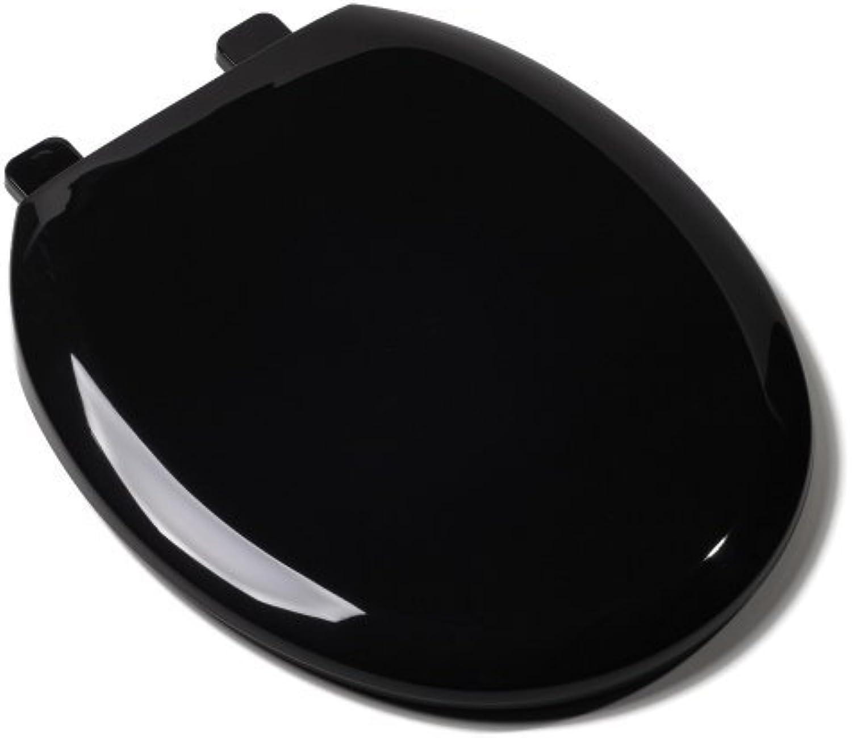 Comfort Seats C1606S90 EZ Close Deluxe Plastic Toilet Seat, Round, Black by Comfort Seats
