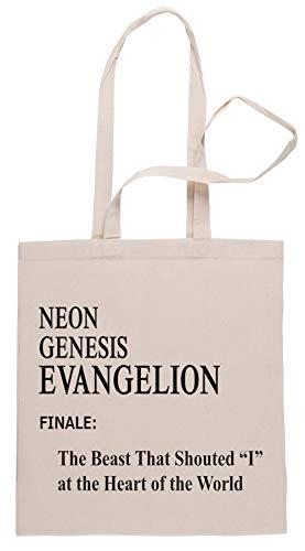 Rundi Neon Genesis Evangelion Episode 26 Bolsa De Compras Shopping Bag Beige