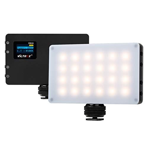 VILTROX RB08 CRI95+ Camera Video Luce LED Portatile per Ritratti Colloquio 2500K ~ 8500K Bicolore Regolabile