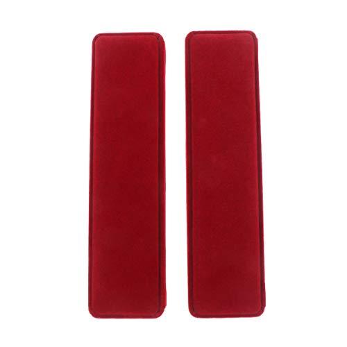 NUOBESTY 2 Pcs Flanelle Bijoux Coffrets Cadeaux Longue Chaîne Collier Boîtes de Rangement Vin Rouge