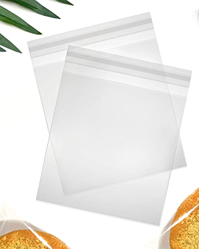 """Seal Fresh – 8"""" x 10"""" (200 Count) Clear Resealable Cellophane Bags – For Breads, Pastries, Loafs, Fruit, Baskets, Party Favors, and Goodies"""