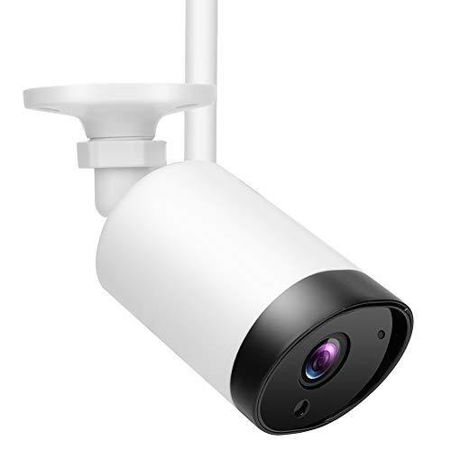 Cámara de intercomunicación IP giratoria 1080P, cámara web exterior impermeable PIR Wifi, con altavoz y micrófono integrados, para hotel de empresa en casa, 100 V-240 V(Enchufe europeo blanco)