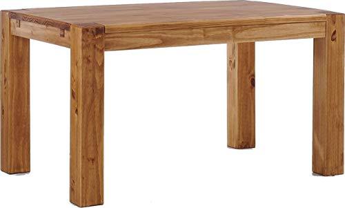 Brasilmöbel Esstisch Rio Kanto 160x90 cm Brasil Pinie Massivholz Größe und Farbe wählbar Esszimmertisch Küchentisch Holztisch Echtholz vorgerichtet für Ansteckplatten Tisch ausziehbar