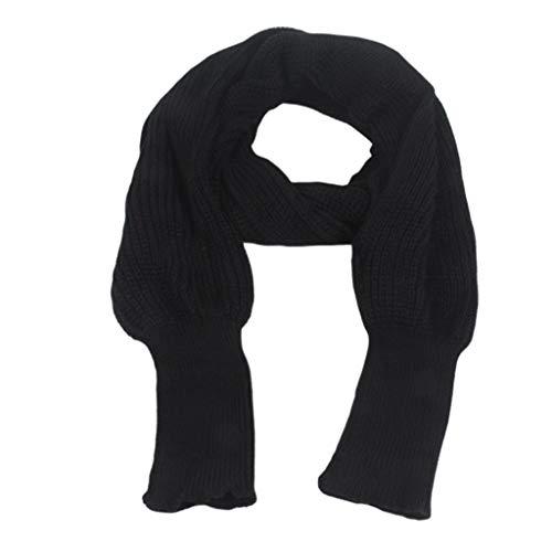 JERKKY Schal 1 Stück Unisex Winter Warm Gestrickt Wickeln Poncho Schal Schal Cape Mit Ärmel Häkeln
