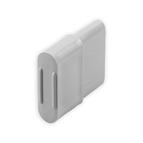 DIWARO® Endstabgleiter | Größe 25mm x 14mm | Farbe braun, grau oder weiß | Material Kunststoff | für Endleiste, Endschiene, Winkelendschiene | Rolladenpanzer, Jalousie, Rollo (grau)