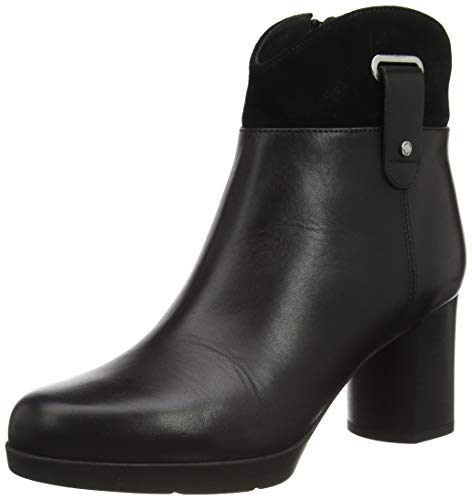 GEOX D ANYLLA MID E BLACK Women's Boots Chelsea size 38(EU)