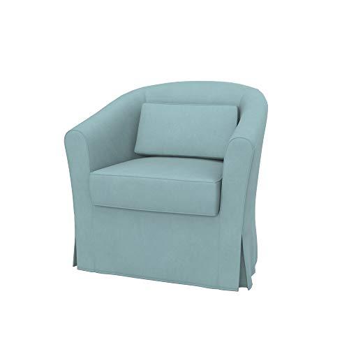 Soferia Bezug fur IKEA EKTORP TULLSTA Sessel, Stoff Majestic Velvet Light Blue