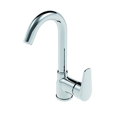 Mengpaneel voor badkamer met het torbuisje van metaal met hoge hoogte zonder afvoer.