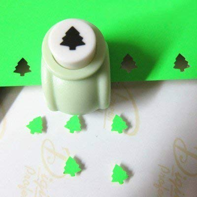 Punch Craft Set, Pack of 5 Hole Punch Shapes Hole Punch Shape Scrapbooking Supplies Shapes Hole Punch Great for Crafting & Fun Projects (Christmas Tree)