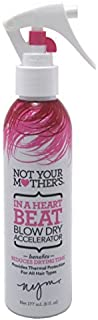Not Your Mothers In A Heart Beat Blow Dry Accelerator 6 Ounce (177ml) (3 Pack)