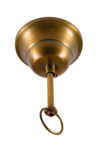 Lampenaufhängung aus Eisen Deckenbaldachin Deckenabschluss Baldachin Metall Antik Messingfarben zum Lampen Aufhängen