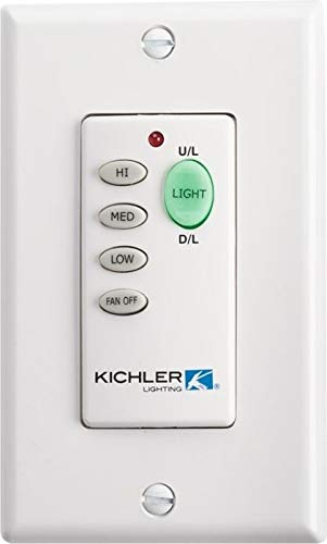 Kichler 370039MULTR, 3 speed with light dimming & on/off toggle. Non-reversing (Non-DC Motor Only)