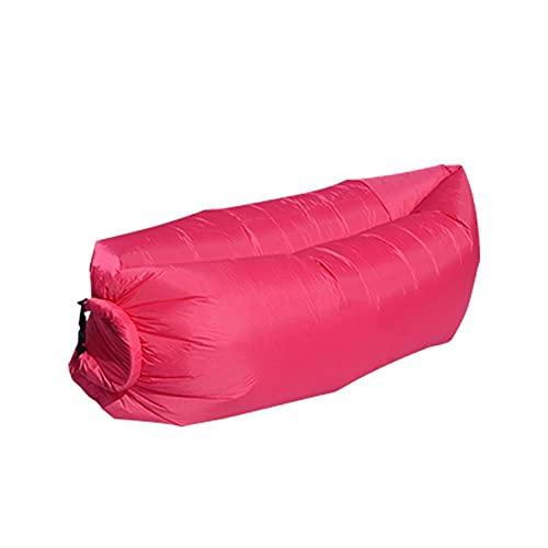 WDL WDLInflable Sofá de aire Hamaca portátil, a prueba de agua, diseño antifugas de aire, ideal para patio trasero, playa, viajes, camping, pícnics y rojo