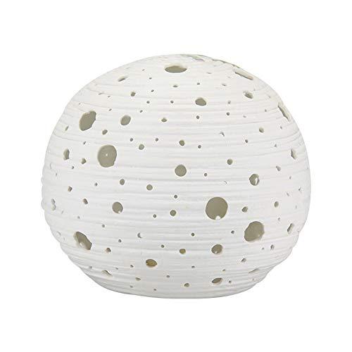 MJLOMJ Lámpara Escritorio LED, Lámpara de Protección de Ojos de Cerámica Hueca Planeta Simple, Adecuado para Sala de Estar, Dormitorio, Escritorio, Decoración de Noche Luz Nocturna