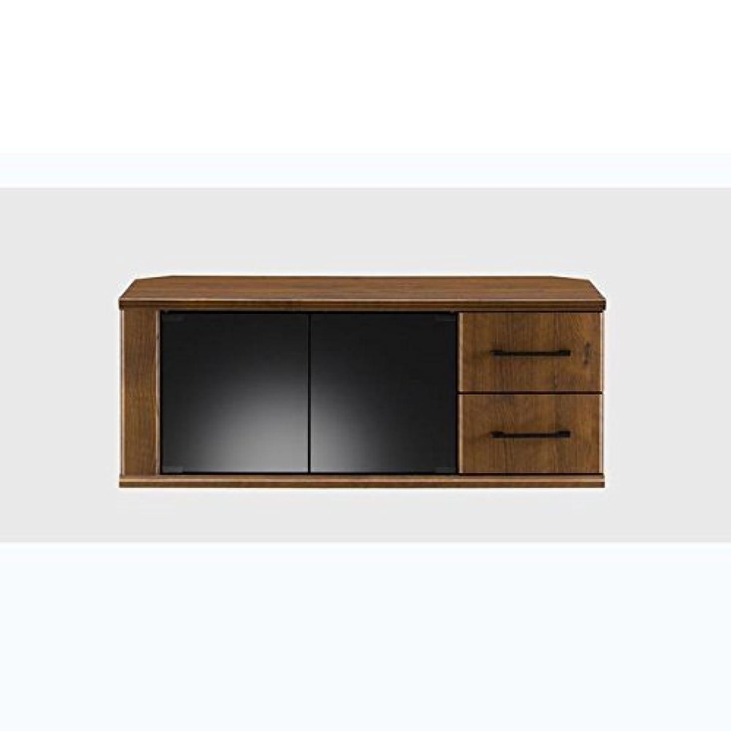 なしで大声で実際に朝日木材加工 テレビ台 HJ style 43型 幅96.5㎝ ブラウン 収納付き キャスター付き AS-HJ970-MB