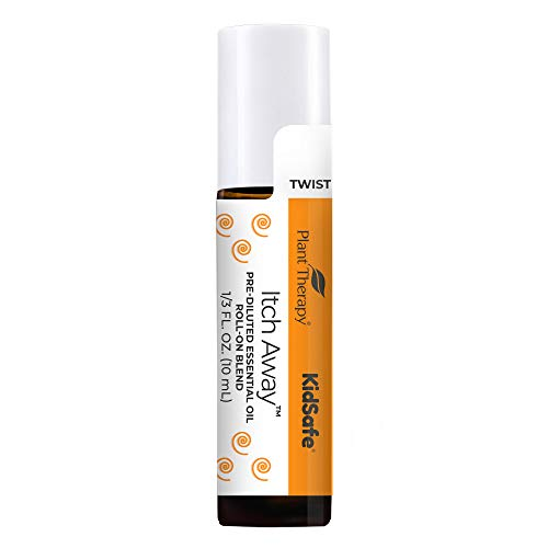 Plant Therapy KidSafe Itch Away Essential Oil Blend Pre-Diluted Roll-On 10 mL (1/3 oz) 100% Pure, Therapeutic Grade