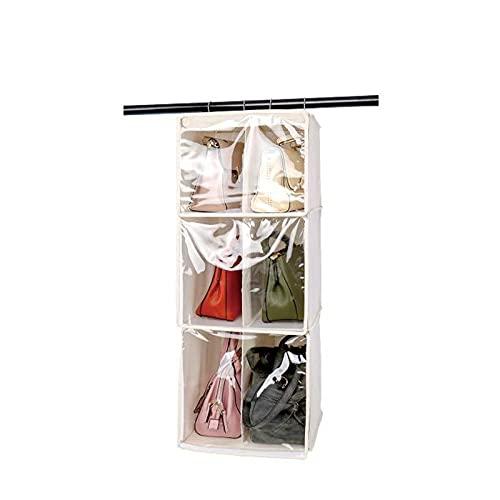 Sebasti Estantería colgante para armario con 6 bolsillos, 34 x 37 x 95 cm, color blanco