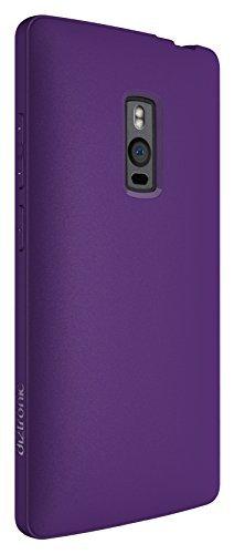 Diztronic OP2-FM-PURP Custodia Completa Opaca Soft Touch Flessibile in TPU per OnePlus Two, Porpora