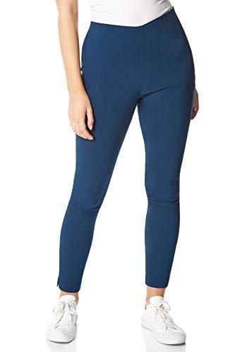 Roman Originals Bengalin-stretchbroek voor dames, volledige lengte met dierenprint, lang smal toelopend comfortabel, dikke leggings