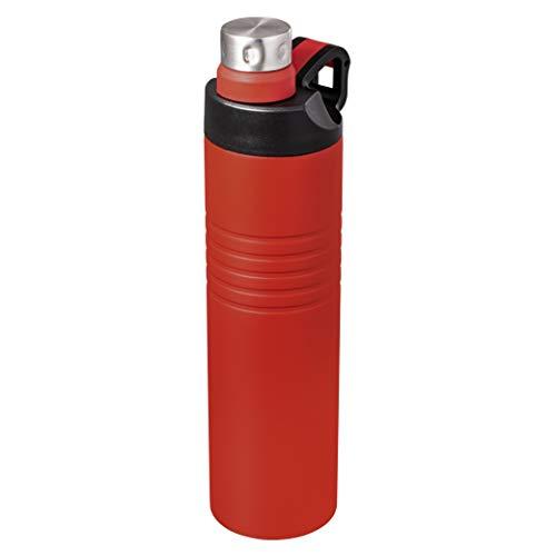 Schmalz® Thermo Edelstahl Trinkflasche KORINTH mit Gravur | spülmaschinen geeignet | auslaufgeschützt | doppelwandig | 600 ml | Sport Freizeit Wandern Schule Camping 52456 (rot, ohne Gravur)