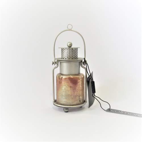 Colmore Laterne Teelicht Windlicht Mini Silber Gold Metall Glas 14 cm