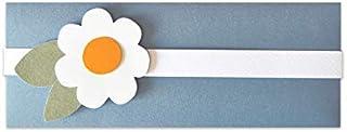 Porta soldi - margherita - cerimonie - busta portasoldi (formato 21,5 x 8 cm) + biglietto d'auguri vuoto all'interno - ide...