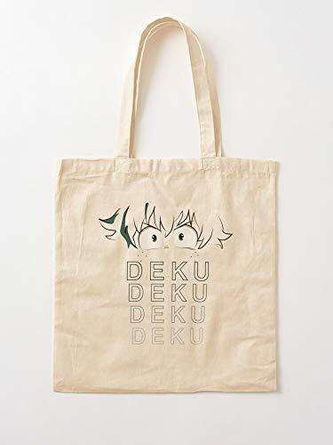 Générique Deku Midoriya Her My Hero Academia Him Boku Izuku No Anime Ideas for   Sacs d'épicerie de Toile Sacs fourre-Tout avec poignées Sacs à provisions en Coton Durable