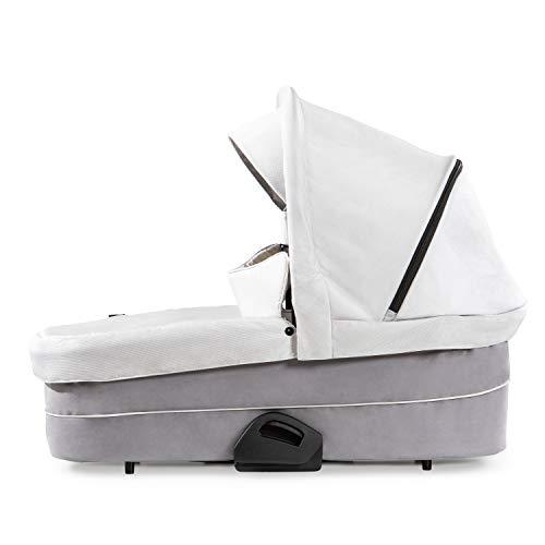 Hauck Baby Wanne für Kombi Kinderwagen Saturn R oder Mars / für Babys ab Geburt bis 9 kg / inklusive weiche Matratze / Fenster mit Belüftung / Stabil / Großes Sonnen Verdeck / Faltbar / Grau