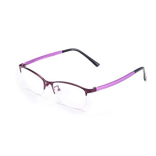HQMGLASSES Vidrios de Lectura Anti-Azul multifocal de Damas progresivas, Gafas de Sol fotocrómicas al Aire Libre /UV400 dioptrías +1.0 a +3.0,Púrpura,+2.5