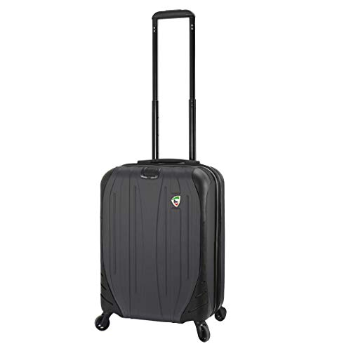 Mia Toro Italy Compaz Hard Side 20' Spinner Luggage, BLACK, One Size