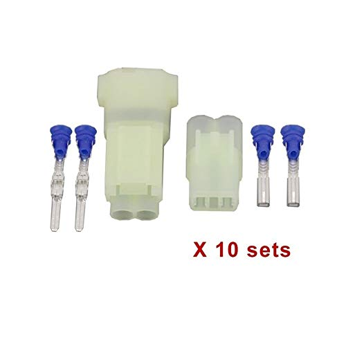 Sets 10 2 Pin DJ7025F-2,2-11/21 Sealed Male Buchse Sensor Auto Connector verwendet for VW, Audi, Seat, Skoda (Color : A-01)