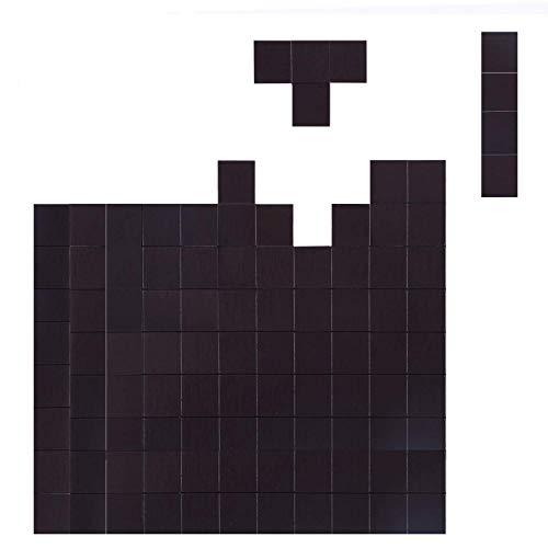 House Again Flexible Magnetquadrate mit Klebeband, je 20 x 20 x 2 mm, perfekt für Bastelarbeiten und DIY-Projekte, zum Aufhängen und Organisieren von leichten Objekten zu Hause, im Büro oder im Lager, 70 Stück