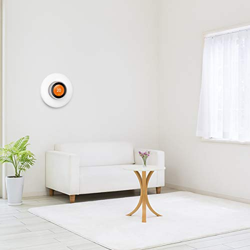 Veetop Upgrading Wall Plate Cover for Nest Learning Thermostat 3rd 2nd 1st Generation(Hard ABS Material/6.3 Inch/White)