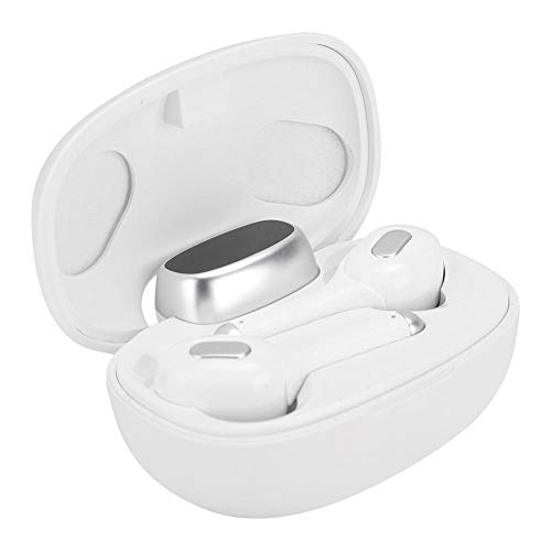 Language Translator Earphone Wireless with 33 Languages, Real-time, High-Definition, LED Battery Capacity Display, Portable, Stereo, Accurate Pronunciation, Two Colors(White)