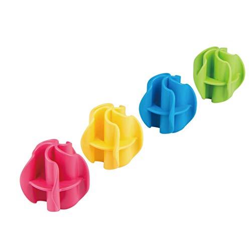 Zlw-shop Bolas de Secadora Protección del Medio Ambiente Bola for Lavar Ropa Camisetas de la máquina no vinculan 4 Piezas Bola de Lavado ecológica